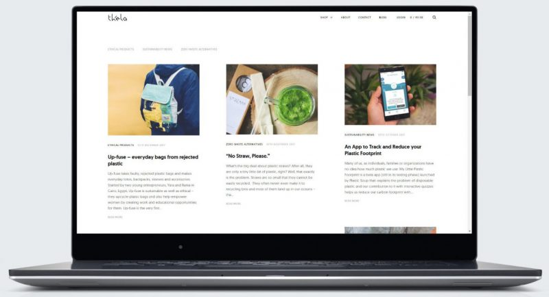 Thela website by CLRBLND